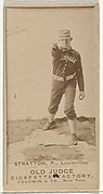 Chilton Scott Stratton, Pitcher, Louisville Colonels, from the Old Judge series (N172) for Old Judge Cigarettes