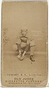 """Philip H. """"Buster"""" Tomney, Shortstop, Louisville Colonels, from the Old Judge series (N172) for Old Judge Cigarettes"""