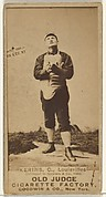 John Nelson Kerins, Catcher, Louisville Colonels, from the Old Judge series (N172) for Old Judge Cigarettes