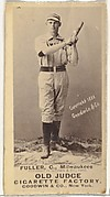 "William E. ""Will"" Fuller, Catcher, Milwaukee, from the Old Judge series (N172) for Old Judge Cigarettes"