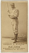 William C. Crossley, Catcher, Milwaukee, from the Old Judge series (N172) for Old Judge Cigarettes