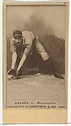 Frank Norris Graves, Catcher, Minneapolis, from the Old Judge series (N172) for Old Judge Cigarettes