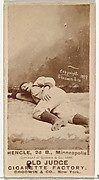 """Emery J. """"Moxie"""" Hengel, 2nd Base, Minneapolis, from the Old Judge series (N172) for Old Judge Cigarettes"""