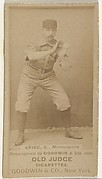 """William Frederick """"Bill"""" Krieg, Catcher, Minneapolis, from the Old Judge series (N172) for Old Judge Cigarettes"""