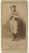 Thomas McCallum, Center Field, Minneapolis, from the Old Judge series (N172) for Old Judge Cigarettes