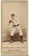 "Daniel Joseph ""Dan"" Minnehan, Right Field, Minneapolis, from the Old Judge series (N172) for Old Judge Cigarettes"