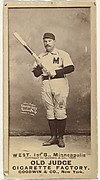"""Milton Douglas """"Buck"""" West, 1st Base, Minneapolis, from the Old Judge series (N172) for Old Judge Cigarettes"""