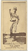 """Nathaniel P. """"Nat"""" Hudson, Pitcher, St. Louis Browns, from the Old Judge series (N172) for Old Judge Cigarettes"""
