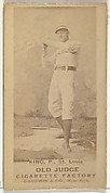 "Charles Frederick ""Silver"" King, Pitcher, St. Louis Browns, from the Old Judge series (N172) for Old Judge Cigarettes"