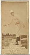 """Edward Augustine """"Ed"""" Knouff, Pitcher, St. Louis Browns, from the Old Judge series (N172) for Old Judge Cigarettes"""