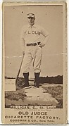 Jocko Milligan, Catcher, St. Louis Browns, from the Old Judge series (N172) for Old Judge Cigarettes