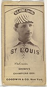 """William H. """"Yank"""" Robinson, Shortstop, St. Louis Browns, from the Old Judge series (N172) for Old Judge Cigarettes"""