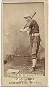 "Bartholomew L. ""Bart"" Cantz, Catcher, St. Louis Whites, from the Old Judge series (N172) for Old Judge Cigarettes"