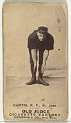 """Ervin Duane """"Jim"""" Curtiss, Right Field, St. Joseph Clay Eaters, from the Old Judge series (N172) for Old Judge Cigarettes"""