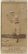 """Ed """"Baldy"""" Silch, Center Field, Denver, from the Old Judge series (N172) for Old Judge Cigarettes"""