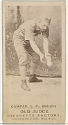 """Charles Colombus """"Count"""" Campau, Left Field, Detroit Wolverines, from the Old Judge series (N172) for Old Judge Cigarettes"""