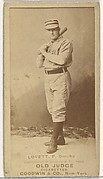 "Thomas Joseph ""Tom"" Lovett, Pitcher, Omaha Omahogs/ Lambs, from the Old Judge series (N172) for Old Judge Cigarettes"