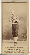 "Charles Augustus ""Kid"" Nichols, Pitcher, Omaha Omahogs/ Lambs, from the Old Judge series (N172) for Old Judge Cigarettes"