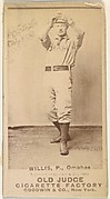 Willis, Pitcher, Omaha Omahogs/ Lambs, from the Old Judge series (N172) for Old Judge Cigarettes