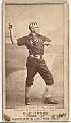 """Varney Samuel """"Varn"""" Anderson, Pitcher, St. Paul Apostles, from the Old Judge series (N172) for Old Judge Cigarettes"""