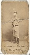 """John E. """"Scrappy"""" Carroll, Right Field, St. Paul Apostles, from the Old Judge series (N172) for Old Judge Cigarettes"""