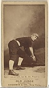 Zachary Taylor Shafer, 2nd Base, St. Paul Apostles, from the Old Judge series (N172) for Old Judge Cigarettes