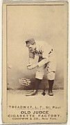 George B. Treadway, Left Field, St. Paul Apostles, from the Old Judge series (N172) for Old Judge Cigarettes