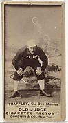"""William Franklin """"Bill"""" Traffley, Catcher, Des Moines Prohibitionists, from the Old Judge series (N172) for Old Judge Cigarettes"""