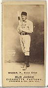 Peter W. Webber, Pitcher, Sioux City Corn Huskers, from the Old Judge series (N172) for Old Judge Cigarettes