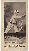 "Clarence Algernon ""Cupid"" Childs, 2nd Base, Syracuse Stars, from the Old Judge series (N172) for Old Judge Cigarettes"