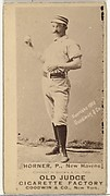 "William ""Jack"" Frank Horner, Pitcher, New Haven, from the Old Judge series (N172) for Old Judge Cigarettes"