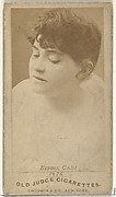 Emma Calif, from the Actors and Actresses series (N171) for Old Judge Cigarettes