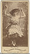 The Swing, from the Actors and Actresses series (N171) for Old Judge Cigarettes