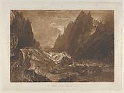 Mêr de Glace, Valley of Chamouni-Savoy (Liber Studiorum, part X, plate 50)