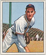 Larry Jansen, Pitcher, New York Giants, from the Picture Card Collectors Series (R406-4) issued by Bowman Gum