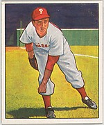 Ken Heintzelman, Pitcher, Philadelphia Phillies, from the Picture Card Collectors Series (R406-4) issued by Bowman Gum