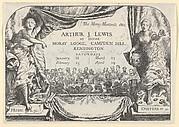 The Moray Minstrels (Invitation card of Arthur Jame Lewis)