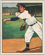 Sam Zoldak, Pitcher, Cleveland Indians, from the Picture Card Collectors Series (R406-4) issued by Bowman Gum