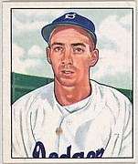 Billy Cox, 3rd Base, Brooklyn Dodgers, from the Picture Card Collectors Series (R406-4) issued by Bowman Gum