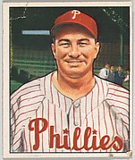 Eddie Sawyer, Manager, Philadelphia Phillies, from the Picture Card Collectors Series (R406-4) issued by Bowman Gum