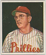 Jim Konstanty, Pitcher, Philadelphia Phillies, from the Picture Card Collectors Series (R406-4) issued by Bowman Gum