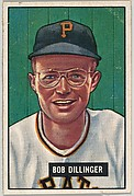 Bob Dillinger, 3rd Base, Pittsburgh, Pirates, from Picture Cards, series 5 (R406-5) issued by Bowman Gum