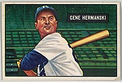Gene Hermanski, Outfield, Brooklyn Dodgers, from Picture Cards, series 5 (R406-5) issued by Bowman Gum