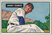 Johnny Schmitz, Pitcher, Chicago Cubs, from Picture Cards, series 5 (R406-5) issued by Bowman Gum