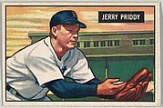 Jerry Priddy, 2nd Base, Detroit Tigers, from Picture Cards, series 5 (R406-5) issued by Bowman Gum
