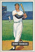 Bobby Thomson, Outfield, New York Giants, from Picture Cards, series 5 (R406-5) issued by Bowman Gum