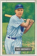 Cass Michaels, 2nd Base-Washington Senators, from Picture Cards, series 5 (R406-5) issued by Bowman Gum