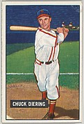 Chuck Diering, Outfield, St. Louis Cardinals, from Picture Cards, series 5 (R406-5) issued by Bowman Gum