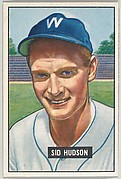 Sid Hudson, Pitcher, Washington Senators, from Picture Cards, series 5 (R406-5) issued by Bowman Gum
