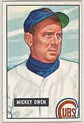 Mickey Owen, Catcher, Chicago Cubs, from Picture Cards, series 5 (R406-5) issued by Bowman Gum